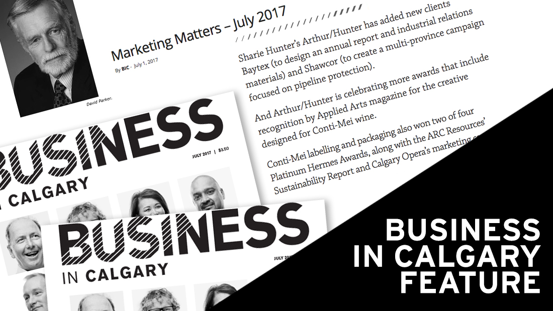 Arthur Hunter Business in Calgary July 2017
