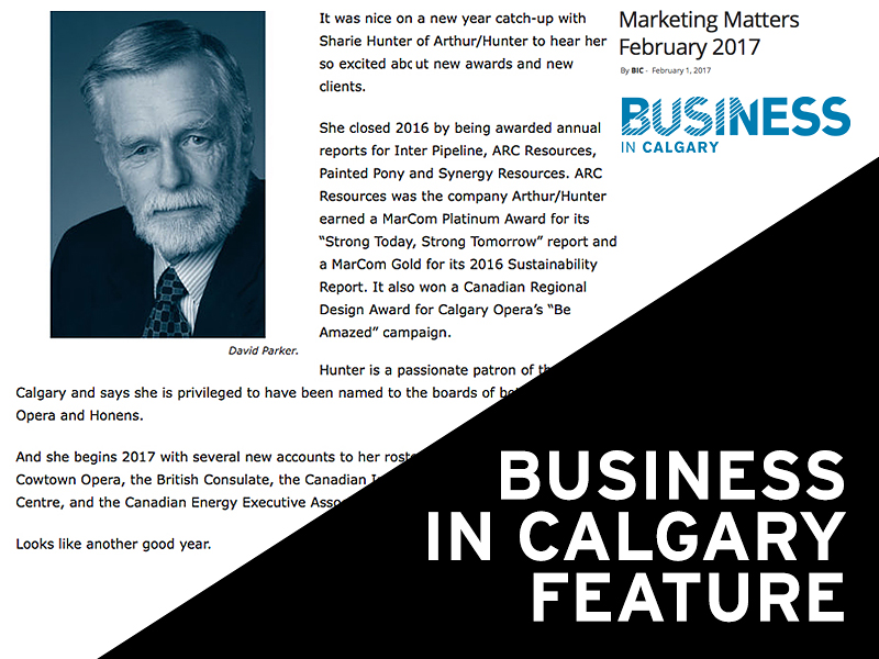 Arthur Hunter Business in Calgary Feb 2017